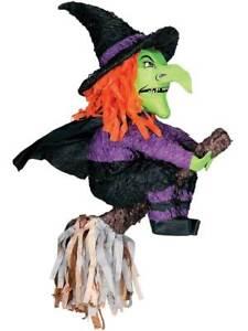 Witch on Broom Pinata Celebration Party Games Birthday Boys Girls Kids Halloween