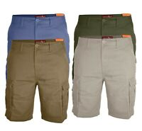 Mens Cargo Combat Casual Shorts Work Wear 100% Cotton Stylish Cargo Half Pants