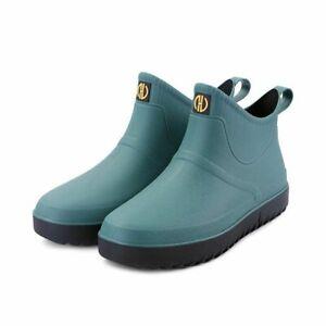 Rain Boots For Men Slip On Rain Shoes Waterproof Plastic Lightweight Wellies