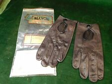 Vintage Bianchi GUN LEATHER Police Driving Gloves Large NOS in Pouch!