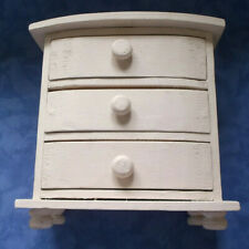 Miniature Painted Bow Front Chest of Drawers