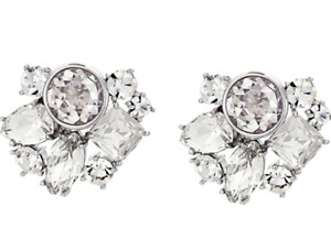 Kate Spade New York Reflecting Pool Clear Silver-Tone Cluster Stud Earrings
