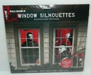 "Halloween Window Silhouette Black Cat 34"" x 25"" Holiday Decorations"