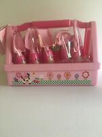 Disney Store Exclusive Minnie Mouse 9 Piece Gardening Set - NEW