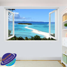 MEDITERRANEAN BEACH ISLAND WALL STICKERS ART DECALS MURALS ROOM OFFICE DECOR VN1