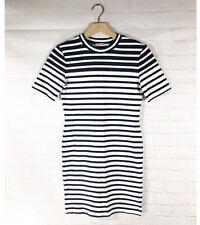 T By Alexander Wang Women's Striped Knit Bodycon T-shirt Dress Size Medium M
