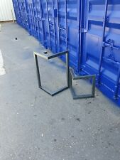 Industrial metal bench legs and table legs.