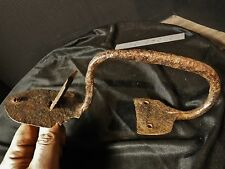 1700s Pennsylvania Suffolk Thumb Latch Wrought Iron Hand Forged Door box handle