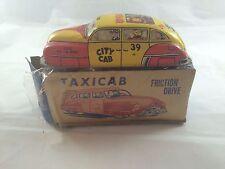 Vintage Tin Lupor Taxi Cab No. 72 Windup Friction