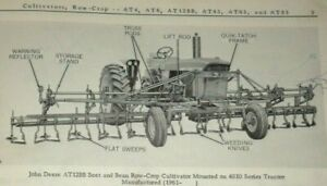 John Deere AT4 to AT83 Cultivator Parts Catalog JD (fits 4010 & other tractors)