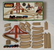 BRIO 33131 Vintage 1990 Wooden Railway Train Starter Set Missing Riser Block