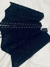 New Fredricks Of Hollywood Dream Corset Black 32 Lace PrintLace Up shimmer