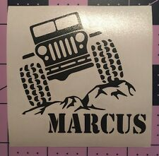 Jeep With Name Decal For Yeti Rambler Tumbler
