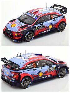 1/18 Ixo Hyundai i20 Coupe WRC N°9 Sébastien Loeb/ELena Rallye Monte Carlo 2020