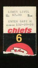 Ticket Football Kansas City Chiefs 1973 9/30 Oakland Raiders Ken Stabler HOF