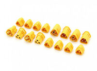MT30 3 Pole Motor/ESC Connector Set in YELLOW x4 Male/Female Pairs -30AMP/16AWG