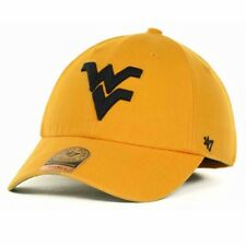 West Virginia Mountaineers WVU '47 Brand Franchise Gold WM L Fitted Cap Hat $30