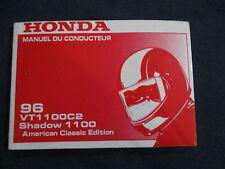 Manuel du conducteur Honda VT 1100 C C2 Shadow American Classic Edition 1996