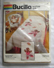 "Bucilla Ballerina Bears Applique Quilt Kit 40179 Twin 63""x93"" Opened"