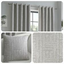 Curtina LOWE Charcoal Grey Jacquard Curtains and Cushions
