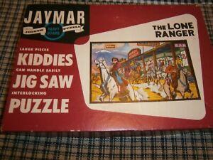 "The Lone Ranger ""Jaymar Puzzle,"" Vintage Large Pcs. Kiddies Jigsaw Puzzle"