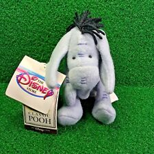 "NEW Disney Mini Bean Bag CLASSIC EEYORE 7"" Winnie The Pooh Plush Toy Donkey MWMT"