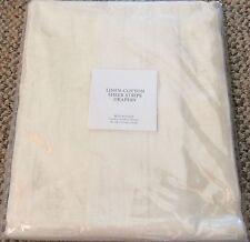 """RESTORATION HARDWARE Linen-Cotton Sheer Stripe Drapery RP 50"""" X 84"""" White Panel"""