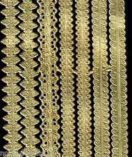 GOLD ASSORTMENT SAMPLER STRIPS  BRAID BORDER DRESDEN GERMAN VINTAGE FOIL ATCs