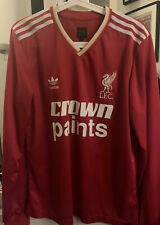 Liverpool 1986 Shirt Crown Paints Adidas Kenny Dalglish Medium