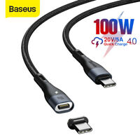 Baseus 100W Magnetic USB C to Type-C Cable Fast Charging Data Cord for Samsung
