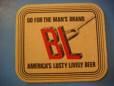 Vintage Beer Coaster ~ Anheuser Busch BUD Light ~ Go For the Man's Brand, Lusty