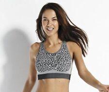 NEW Leopard Print Fitness Crop Top Size L/XL by ADORE SPORT Black & Grey BNWT