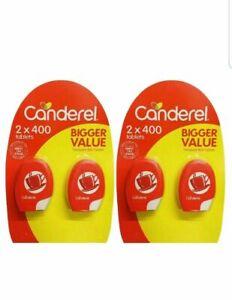 Canderel Tablets Sugar Substitute Low Zero Calorie Sweetener 400,800,1600