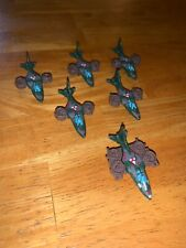 Micro Machines Kpt 89 Kenner Triax V-Tols with Commander 1989 Green Lot of 6
