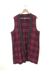 Burberry Women's Pink Red Plaid Wool Replacement Coat Jacket Liner Lining