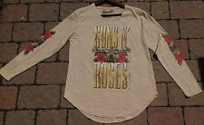GUNS N ROSES LONG SLEEVE SHIRT Concert World Tour Urban Outfitters Adult XS NEW