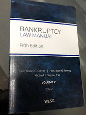 Bankruptcy Law Manual Soft Bound 2012 (VOLUME 2 only) NEW