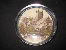 Vintage Glass Paperweight With Wells Cathedral Scene