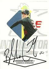 2004 Just Minos BRANDON MCCARTHY Signed Card ATHLETICS a's auto rc