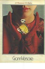"""PUBLICITE ADVERTISING  1982  GIANNI VERSACE parfum """" LA RENAISSANCE """""""