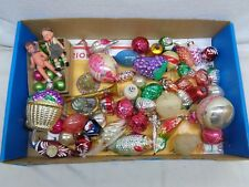 Approximately (50) Antique Christmas Tree Ornaments