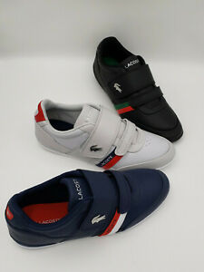 Lacoste Misano Strap 1201U CMA Men's Grey/White- Blk/Grn-NVY/RED Loafer Shoes