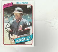 FREE SHIPPING-MINT-NRMINT-1980 Topps #20 Dan Ford Angels
