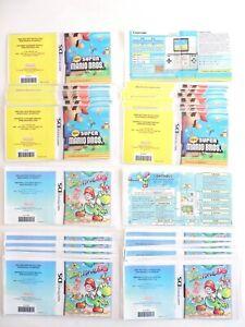 LOT 30 Laminated NINTENDO DS Instruction Manuals NEW SUPER MARIO & YOSHI ISLAND