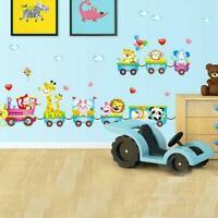 Animals DIY Train Wall Sticker For Kids Baby Room Nursery Top Home Decor Ar X5U2