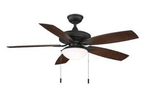 Hampton Bay Gazebo III 52 in. Indoor/Outdoor Natural Iron Ceiling Fan with Light