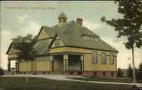 Lunenburg MA Center School c1910 Postcard