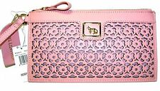 EMMA FOX Pale Pink Leather Clutch Purse Forsyth Wristlet NWT