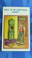 Vintage Comic Postcard 1930s 1D Penny Arcade Fun Fair Punch Ball Punching Bag