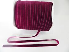 5m x 6mm Velvet Ribbon : RICH PLUM